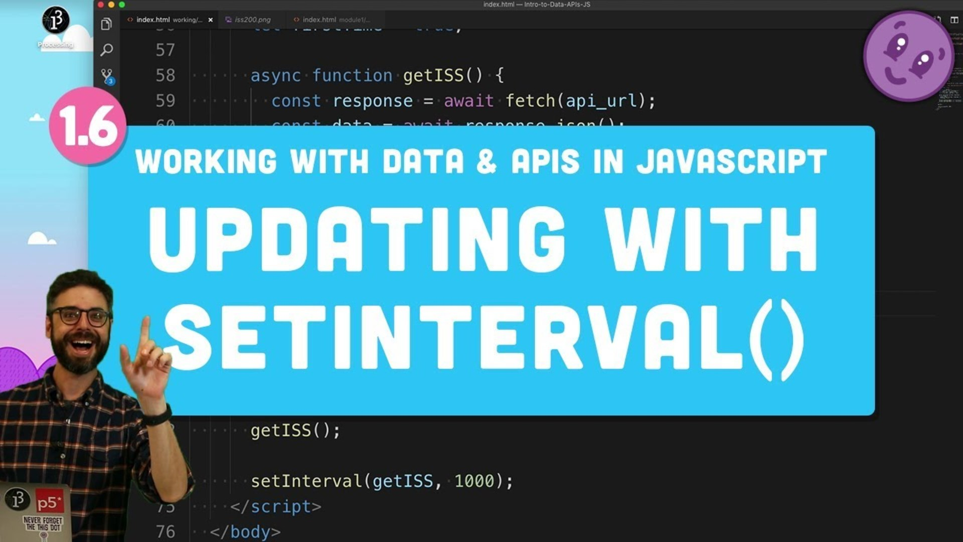1 6 Refreshing Data with setInterval() - Working with Data and APIs